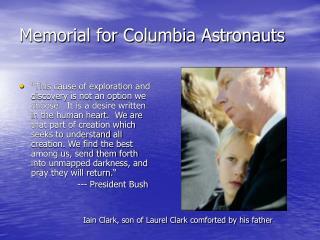 Memorial for Columbia Astronauts