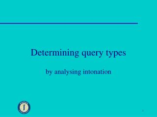 Determining query types