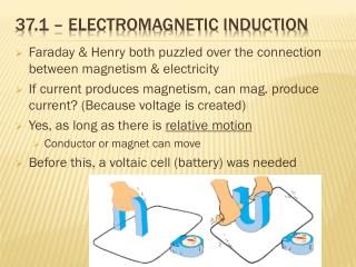 37.1 – Electromagnetic induction