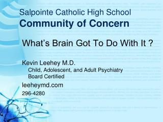 Salpointe Catholic High School Community of Concern