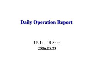 J R Luo, B Shen 2006.05.23