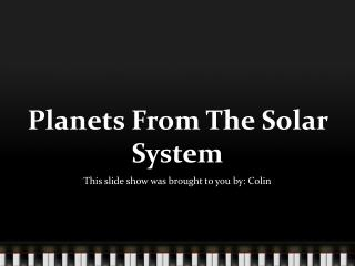Planets From The Solar System