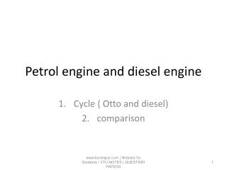 Petrol engine and diesel engine
