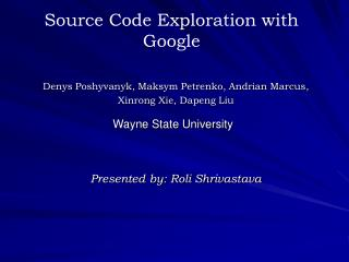Source Code Exploration with Google