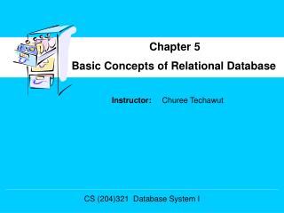 Basic Concepts of Relational Database