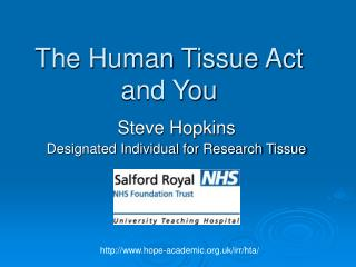 The Human Tissue Act and You