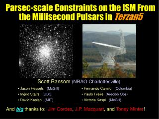 Parsec-scale Constraints on the ISM From the Millisecond Pulsars in  Terzan5