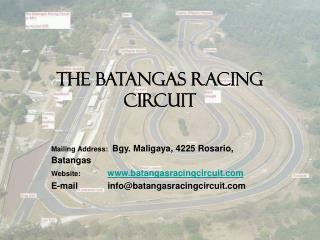 The BATANGAS RACING CIRCUIT