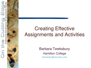 Designing Effective Homework