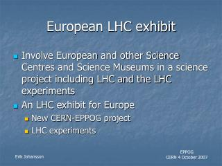 European LHC exhibit