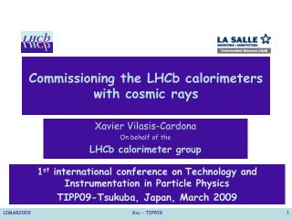 Commissioning the LHCb calorimeters  with cosmic rays