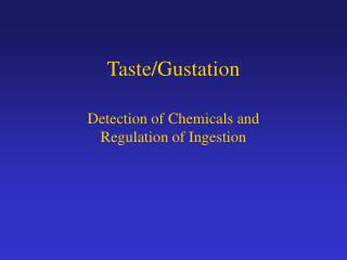 Taste/Gustation