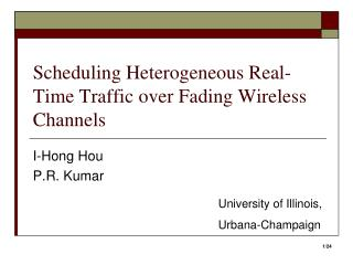 Scheduling Heterogeneous Real-Time Traffic over Fading Wireless Channels
