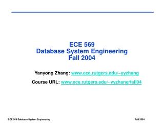 Methodology -  Logical Database Design Transparencies