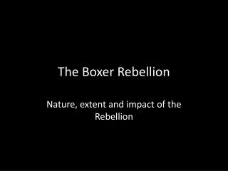 impact of the boxer rebellion on