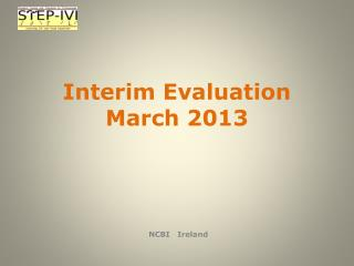 Interim Evaluation March 2013