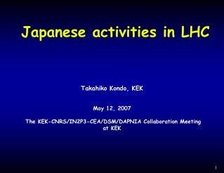 Japanese activities in LHC