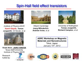 Spin-Hall field effect transistors