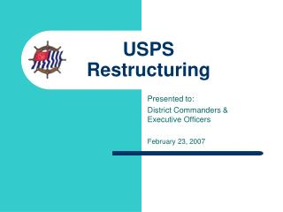 USPS  Restructuring