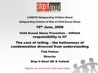 Together we can prevent child sexual abuse