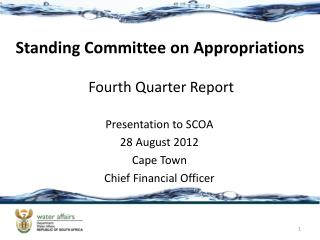 Standing Committee on Appropriations Fourth Quarter Report