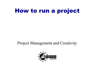 How to run a project