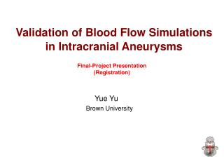 Validation of Blood Flow Simulations in Intracranial Aneurysms