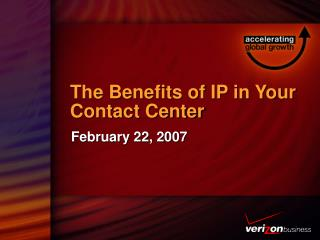 The Benefits of IP in Your Contact Center