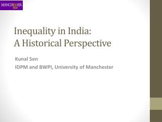 Inequality in India: A Historical Perspective
