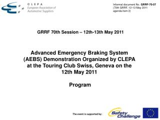GRRF 70th Session – 12th-13th May 2011