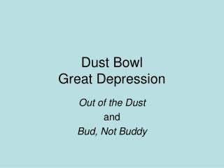 Dust Bowl Great Depression
