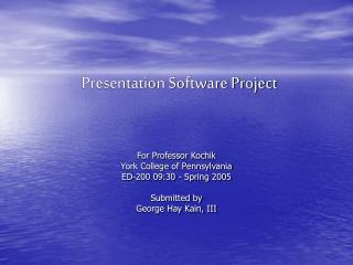 Presentation Software Project