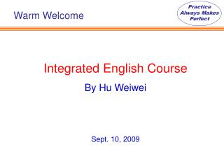Integrated English Course By Hu Weiwei