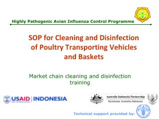 SOP for Cleaning and Disinfection o f  Poultry Transporting Vehicles and Baskets
