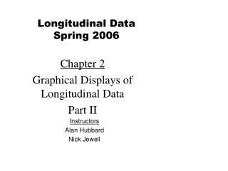 Chapter 2 Graphical Displays of Longitudinal Data  Part II