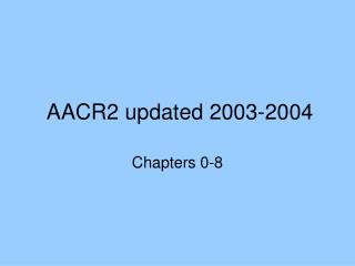 AACR2 updated 2003-2004