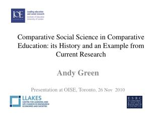 education globalisation and the role of comparative research green andy