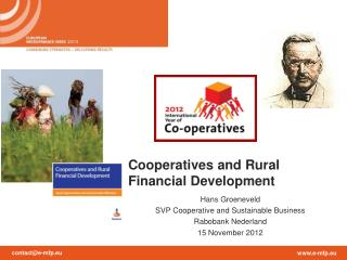 Cooperatives and Rural Financial Development