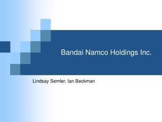 Bandai Namco Holdings Inc.