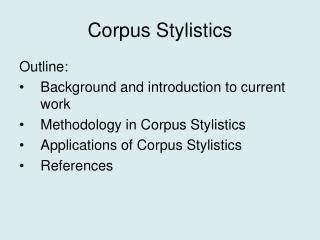 Corpus Stylistics