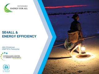 SE4ALL & ENERGY EFFICIENCY John Christensen UNEP DTU Partnership