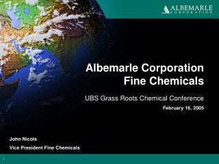 Albemarle Corporation Fine Chemicals