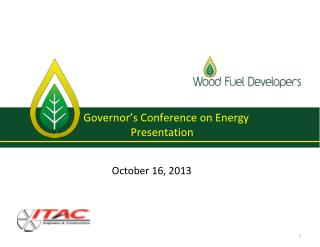 Governor's Conference on Energy  Presentation