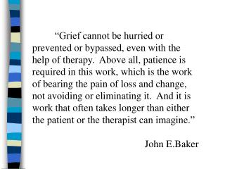 Bereavement/Grief
