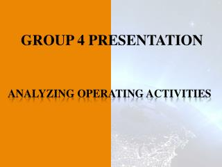 ANALYZING OPERATING ACTIVITIES