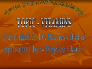 Term paper of chemistry