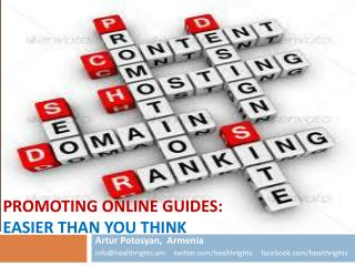 Promoting Online Guides:  Easier than you Think