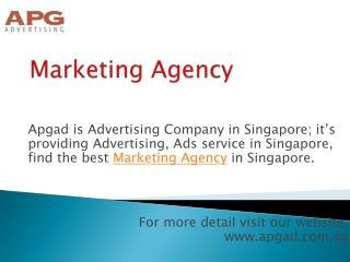 Apgad is Most Famous Marketing Agency in Singapore
