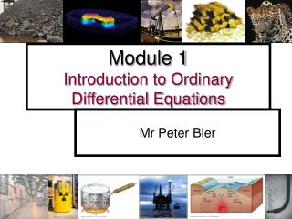 Module 1 Introduction to Ordinary Differential Equations