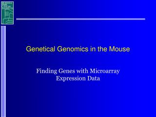Genetical Genomics in the Mouse